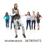 full body cool black man dancing | Shutterstock . vector #367855472