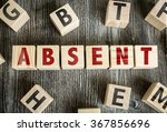 Small photo of Wooden Blocks with the text: Absent