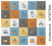 business and finance icon set | Shutterstock . vector #367857866