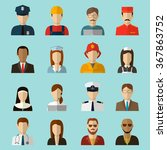 professions vector flat icons.... | Shutterstock .eps vector #367863752