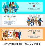 flat web page design concept of ... | Shutterstock .eps vector #367864466