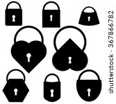 set of lock and key icons.