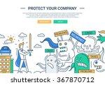 illustration of vector modern... | Shutterstock .eps vector #367870712