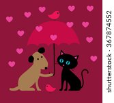 Cat And Dog Valentine