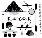 set of kayaking and travel.... | Shutterstock .eps vector #367875722