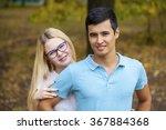 close up portrait of attractive ... | Shutterstock . vector #367884368