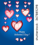 happy valentines day card... | Shutterstock .eps vector #367885298