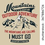 mountain illustration  outdoor... | Shutterstock .eps vector #367886726