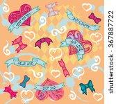 vector pattern. hearts. | Shutterstock .eps vector #367887722