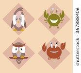 bird  owl  crab  cancer  on a... | Shutterstock .eps vector #367888406