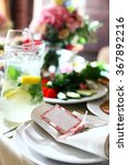 plates for guests | Shutterstock . vector #367892216