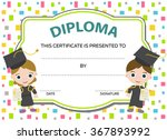 kids diploma with two graduates   Shutterstock .eps vector #367893992