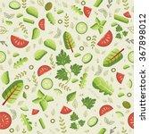 seamless pattern. salad... | Shutterstock .eps vector #367898012