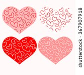 templates in the form of hearts | Shutterstock .eps vector #367907918