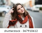 woman trying to remember... | Shutterstock . vector #367910612