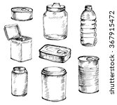 sketch of different mason jars  ... | Shutterstock .eps vector #367915472