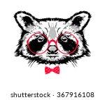 vector illustration   raccoon... | Shutterstock .eps vector #367916108