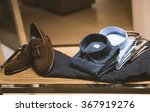 men shoes and clothing in a shop | Shutterstock . vector #367919276
