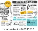 restaurant brochure vector ... | Shutterstock .eps vector #367919516