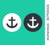 vector illustration flat anchor ...