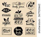 vector eco  organic  bio logos. ... | Shutterstock .eps vector #367920662