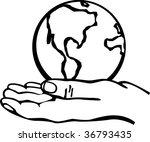 world in hand | Shutterstock .eps vector #36793435