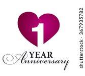 1 year anniversary white... | Shutterstock .eps vector #367935782