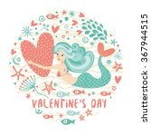 vector cartoon happy valentine... | Shutterstock .eps vector #367944515