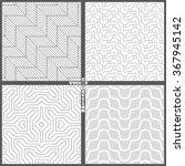 set of seamless patterns.... | Shutterstock .eps vector #367945142