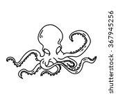 octopus vector logo black and... | Shutterstock .eps vector #367945256