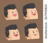 cartoon man design  | Shutterstock .eps vector #367945805
