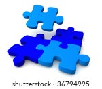 blue puzzle | Shutterstock . vector #36794995