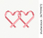 banner with two hearts made... | Shutterstock . vector #367959872