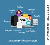 soa service oriented... | Shutterstock .eps vector #367961165