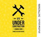 under construction sign  vector ... | Shutterstock .eps vector #367965686
