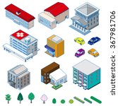 various isometric buildings ... | Shutterstock .eps vector #367981706