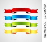 vector ribbons set | Shutterstock .eps vector #367985402