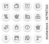 commerce flat contour icons on... | Shutterstock .eps vector #367987262