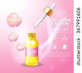 collagen and serum skin care... | Shutterstock .eps vector #367991606
