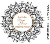 vintage delicate invitation... | Shutterstock .eps vector #367991822