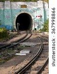 Small photo of Barog tunnel on the shiwalix express railway from Kalka to Shimla, India