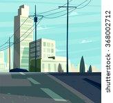 vector beautiful sunrise over... | Shutterstock .eps vector #368002712
