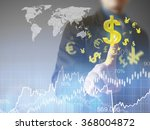 businessman with financial... | Shutterstock . vector #368004872