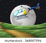helicopter flying on the... | Shutterstock .eps vector #368007596
