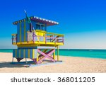 Lifeguard Tower In South Beach...