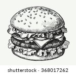 hand drawn illustration of... | Shutterstock .eps vector #368017262