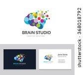 brain studio logo vector logo... | Shutterstock .eps vector #368018792