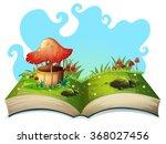 mushroom well in the park... | Shutterstock .eps vector #368027456