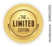 gold limited edition badge on... | Shutterstock .eps vector #368031002