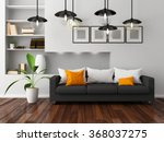 white room with sofa.3d... | Shutterstock . vector #368037275
